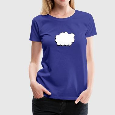 thought balloon - Women's Premium T-Shirt