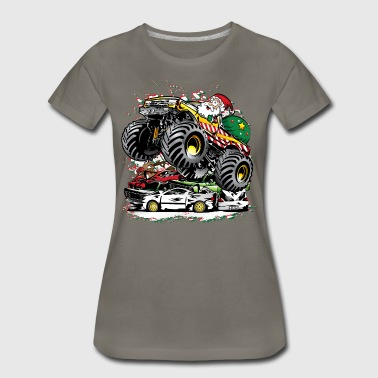 Jam Santa Claus Monster Truck - Women's Premium T-Shirt