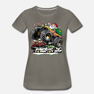 Monster Jam Santa Claus Monster Truck - Women's Premium T-Shirt
