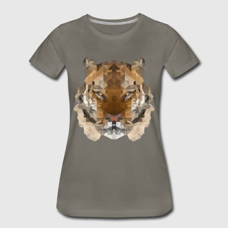 Cool Low Polygon Tiger - Women's Premium T-Shirt