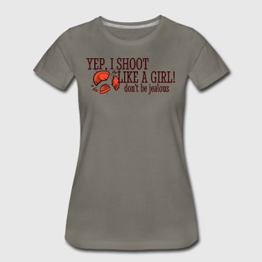 Sporting Clays Shooting Shoot Like A Girl - Women's Premium T-Shirt
