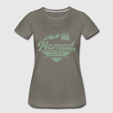 Lounge Nomad Range (Green) - Women's Premium T-Shirt