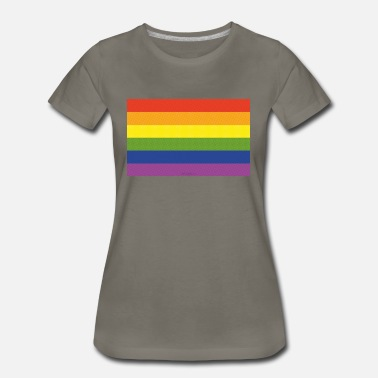 Rainbow Love Flag Rainbow Flag - Women's Premium T-Shirt