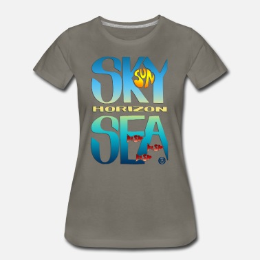 Erika Wasner Designs Sea And Sky - Women's Premium T-Shirt