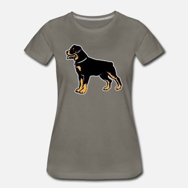 Custom Dog Breed Dogs Rottweiler Breed - Women's Premium T-Shirt