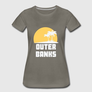 Outer Banks North Carolina Sunset Palm Trees - Women's Premium T-Shirt