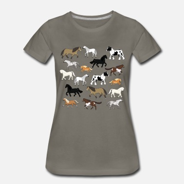 Horseback Riding horses - Women's Premium T-Shirt