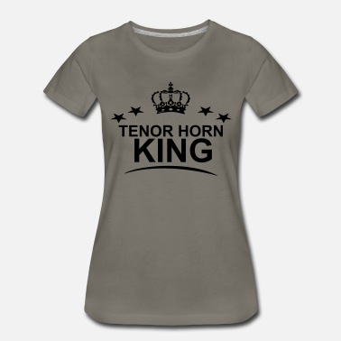 Marchingband Tenor Horn King - Women's Premium T-Shirt