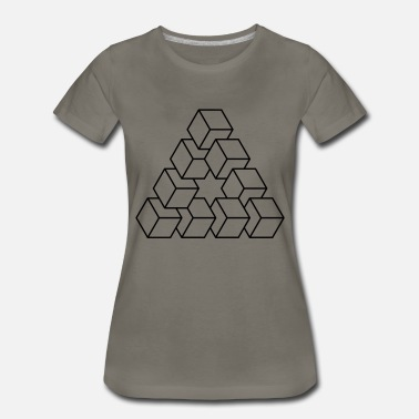 Wink Abstract Illusion Squares - Women's Premium T-Shirt