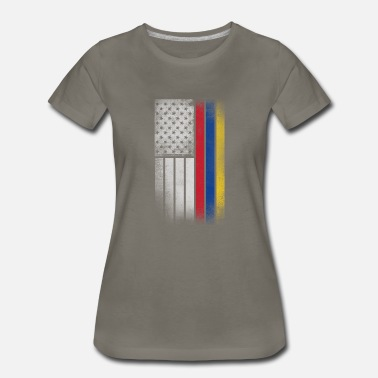 Funny Colombian Colombian American Flag - Women's Premium T-Shirt