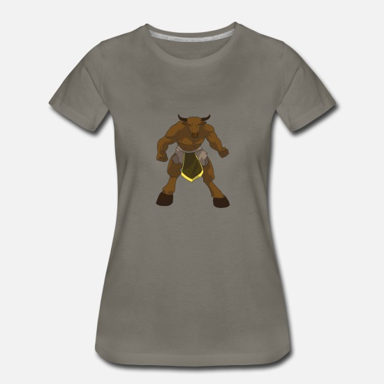 Crete T-Shirts - Minotaur for people who love Greek mythology - Women's Premium T-Shirt asphalt gray