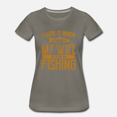 Suitcase I LOVE FISHING Novelty Fishing Gifts For Dad - Women's Premium T-Shirt