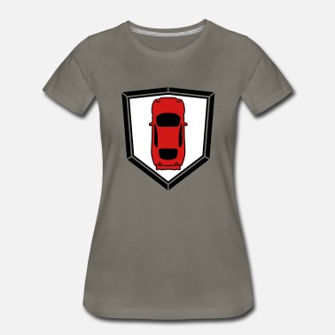 Race Car coat of arms shield sports car car fast race car r - Women's Premium T-Shirt