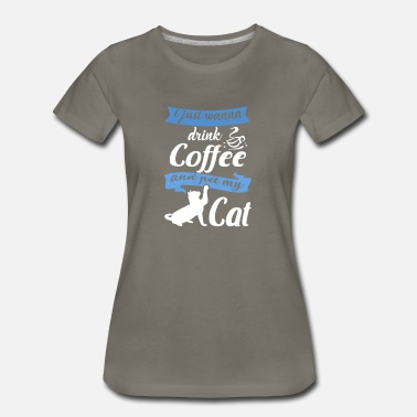 Cats And Coffee coffee & cat - Women's Premium T-Shirt