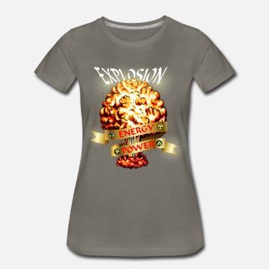 Chaos Atomic explosion - mushroom cloud - atomic energy - Women's Premium T-Shirt