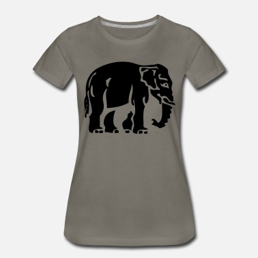 Traffic Sign Elephant Crossing Sign - Women's Premium T-Shirt