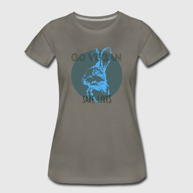 Go vegan save lives - Women's Premium T-Shirt