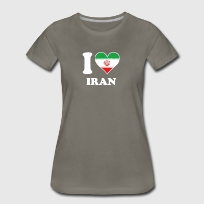 I Love Iran Iranian Flag Heart - Women's Premium T-Shirt