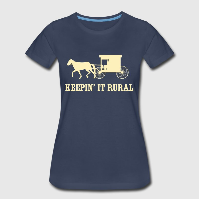 Keepin' it rural (Amish) - Women's Premium T-Shirt