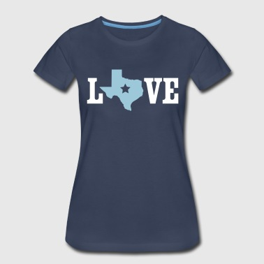 Love Texas Outline - Women's Premium T-Shirt