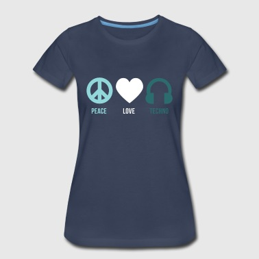 Techno peace love techno - Women's Premium T-Shirt