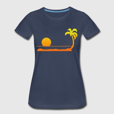 Tropical Sunset - Women's Premium T-Shirt
