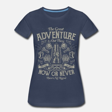 Backpacker Army The Great Adventure - Women's Premium T-Shirt