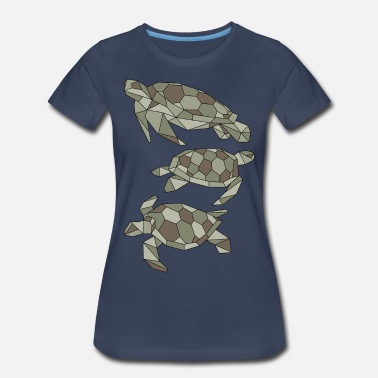 Motif Turtle Geometric Turtles - Women's Premium T-Shirt