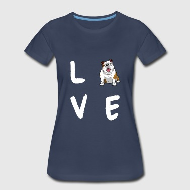 English Bulldog Love - Women's Premium T-Shirt