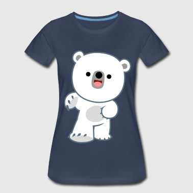 Mad Happy Cute Happy Polar Bear Cub by Cheerful Madness!! - Women's Premium T-Shirt