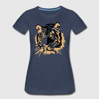 Tiger Head Tiger Head Vector - Women's Premium T-Shirt