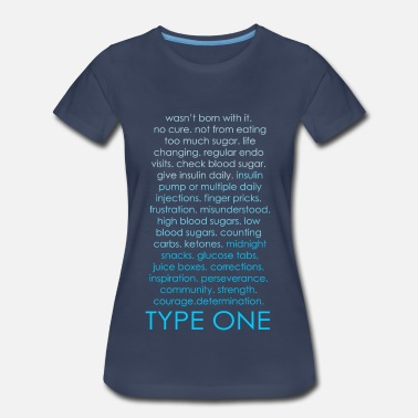 Type The Inspire Collection - Type One - Blue - Women's Premium T-Shirt