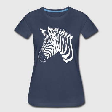 zebra white - Women's Premium T-Shirt