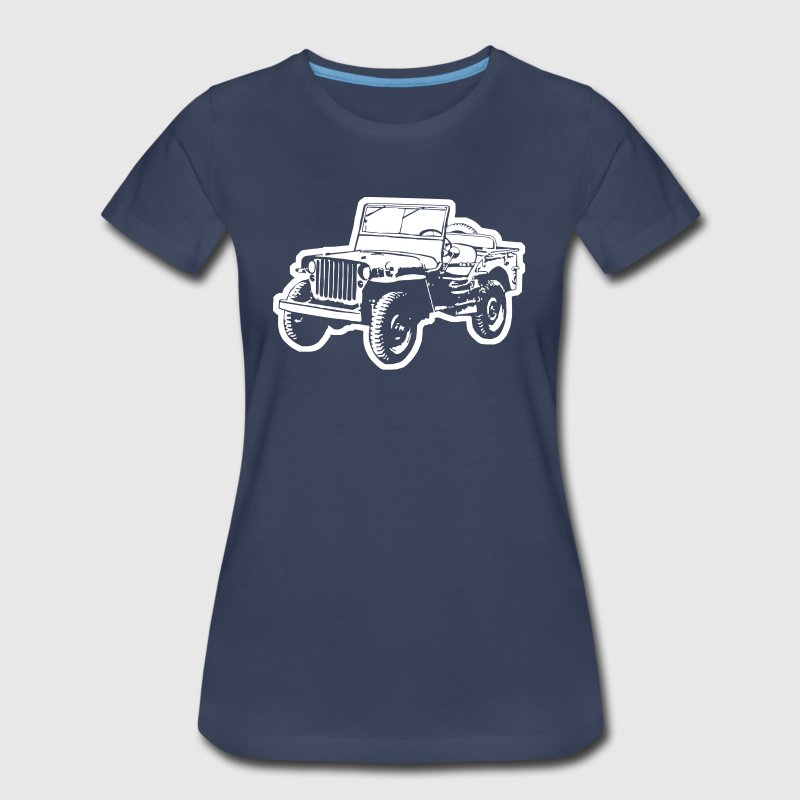 Willys Jeep (diff. color) - Women's Premium T-Shirt