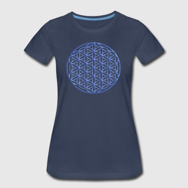 Blue Flower of Life  - Women's Premium T-Shirt