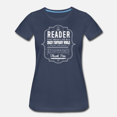 Crazy World Crazy World Reader Shirt - Women's Premium T-Shirt