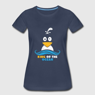 King of The Ocean kids funny bird seagull - Women's Premium T-Shirt
