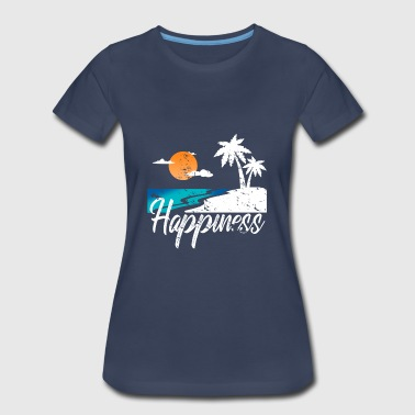 Happiness Beach Palm-trees palm gift - Women's Premium T-Shirt