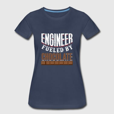Fueled By Chocolate Engineer Fueled By Chocolate - Women's Premium T-Shirt