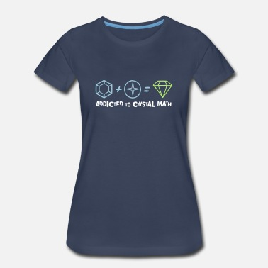 Crystal Addicted to Crystal Math - Women's Premium T-Shirt