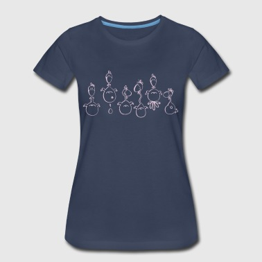 Crazy Chickens - Chicken - Women's Premium T-Shirt