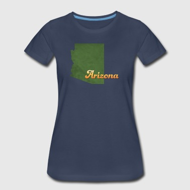 Arizona State Map Arizona Map USA green - Women's Premium T-Shirt