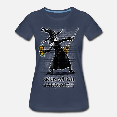 Witches Broom Send Witch Sandwich - Women's Premium T-Shirt