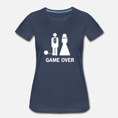 Ball And Chain Wedding. Game Over Ball and Chain - Women's Premium T-Shirt