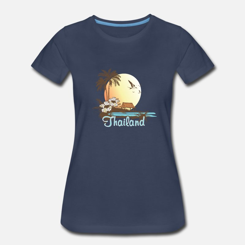 Country T-Shirts - Thailand Beach - Women's Premium T-Shirt navy