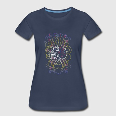 Aztec Skull Graphic - Women's Premium T-Shirt