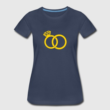 Wedding Band - Wedding Rings - Women's Premium T-Shirt