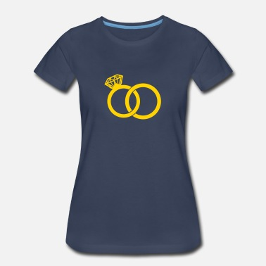 Wedding Ring Wedding Band - Wedding Rings - Women's Premium T-Shirt
