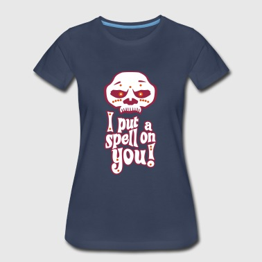 Voodoo Mask I Put A Spell On You! (With Outline) - Women's Premium T-Shirt