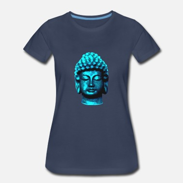 Zazen buddha head blue - Women's Premium T-Shirt